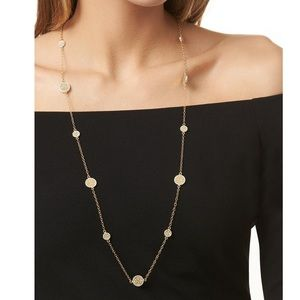 ANNA BECK Long Multi Disc Station Necklace